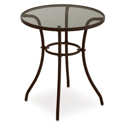 $19.99 for Verona Round Glass-Top Bistro Table
