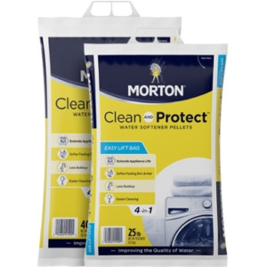 $5.99 for 40 lb. Morton Clean and Protect Pellets