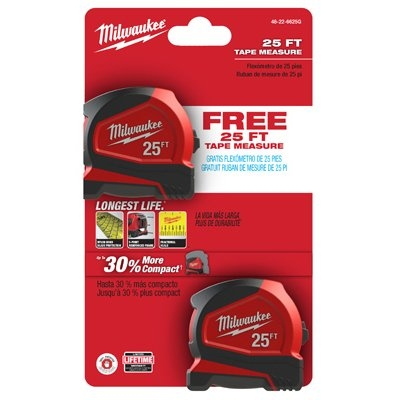 $14.97 for Milwaukee 2Pk Measuring Tapes