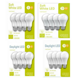 $5.99 Your Choice 4pk. LED Light Bulbs