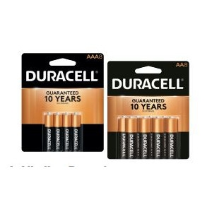 $6.99 Your Choice Duracell AA or AAA Batteries