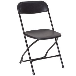 Black Plastic Dining Chair