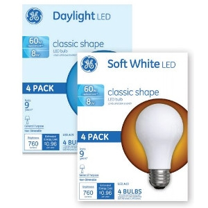 $7.99 Your Choice 4 Pack LED Bulbs