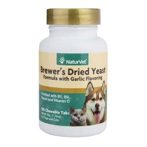 NaturVet® Brewer's Dried Yeast with Garlic Chewable Tablets 100ct