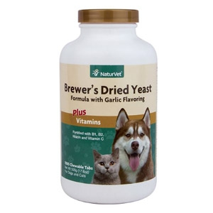 NaturVet®  Brewer's Dried Yeast with Garlic Chewable Tablet 1000ct