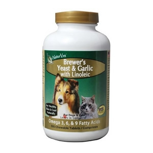 NaturVet®  Brewer's Dried Yeast & Garlic with Linoleic Tablets 1000ct