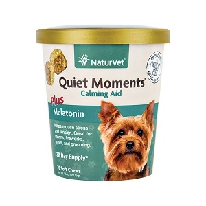 NaturVet Quiet Moments Dog Calming Aid Soft Chews 65ct