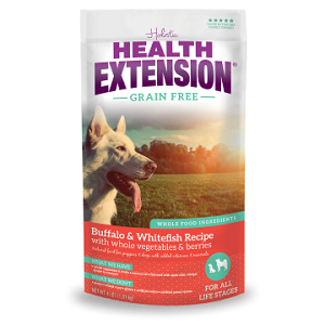 Health Extension Grain Free Buffalo & Whitefish Dog Food 10lb