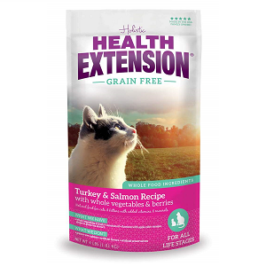 Health Extension Grain Free Turkey & Salmon All Life Stages Cat Food 4lb
