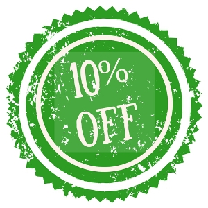 10% Off Any 1 Item That Is The Color Green