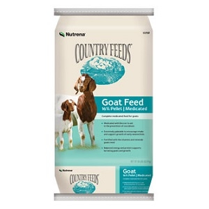 Country Feeds 16% Pelleted Goat Feed – Medicated