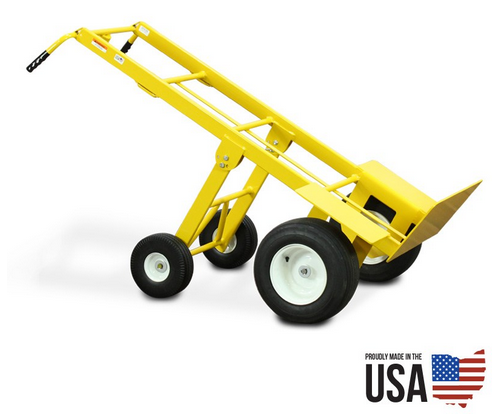 American Cart Mega Hauler Hand Truck with Rear Folding Wheels