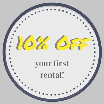 10% off Your First Rental with Email Signup