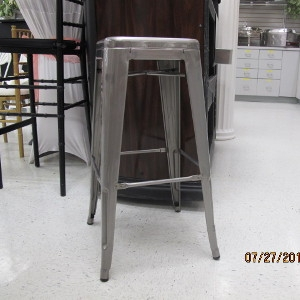 Gunmetal Bar stool