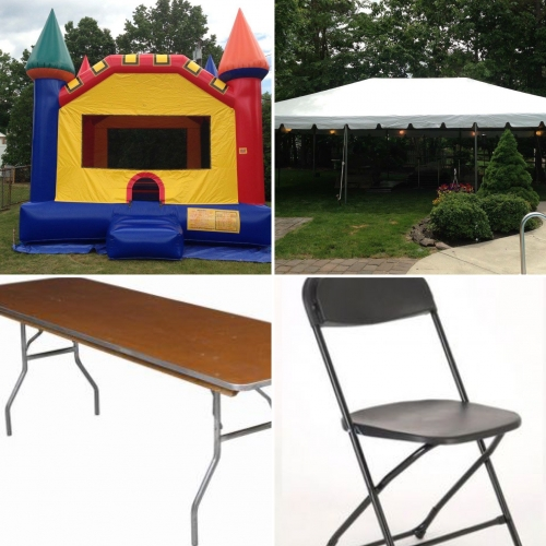 CP#8:  Bounce House, 30x30, 9 Tables, 72 Chairs