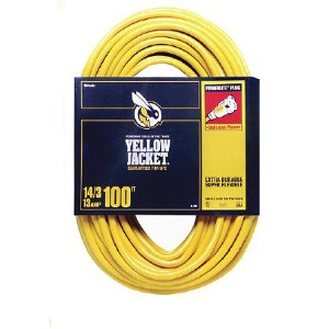 Yellow Jacket 14/3 x 100-Ft. Extension Cord