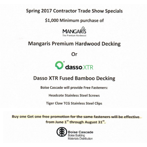 Spring 2017 Contractor Trade Show Speicals