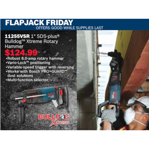 Bosch Tool Event for Flapjack Friday
