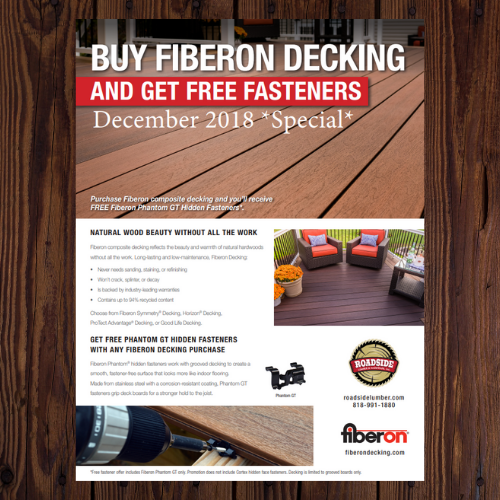FiberonSpecial: Buy Decking and Get Free Fasteners