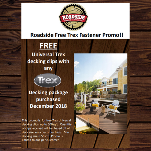 Trex Special: Free Decking Clips with Purchase