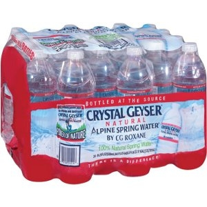 Crystal Geyser Alpine Spring Bottled Water 24-Pack