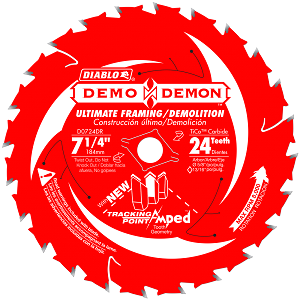 7‑1/4 in. x 24 Tooth Ultimate Framing / Demolition Saw Blade