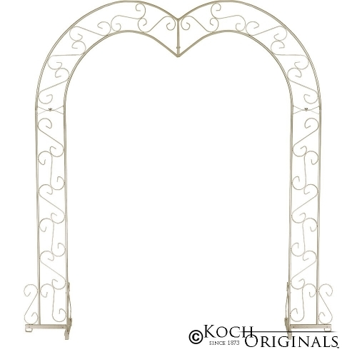 Brass Heart Wedding Arch