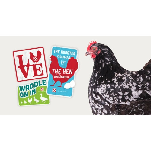 Free Chicken Coop Sign w/ Purchase