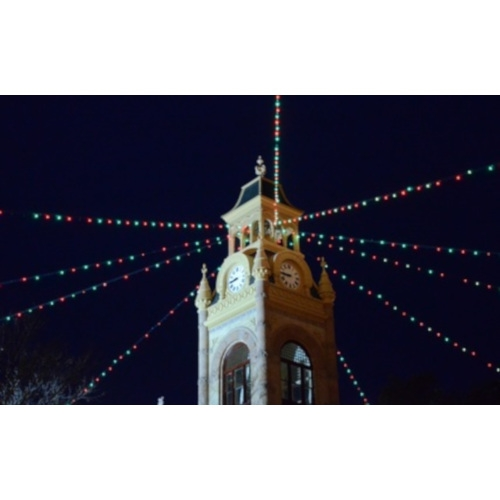 Lighting of the Llano County Courthouse