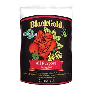 Black Gold® All Purpose Potting Soil with Resilience® - 2 Cubic Foot