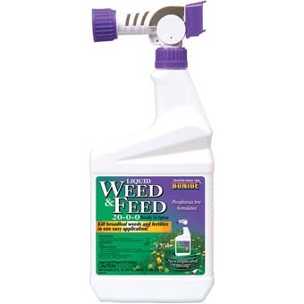 Bonide® Liquid Weed & Feed 20-0-0 (RTS Hose Attach 32Oz)