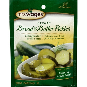 Mrs. Wage's® Refrigerator Bread & Butter Pickle Mix 1.94oz