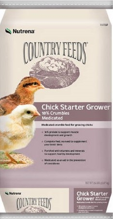 Nutrena® Country Feeds™ 18% (Medicated) Chick Starter/Grower