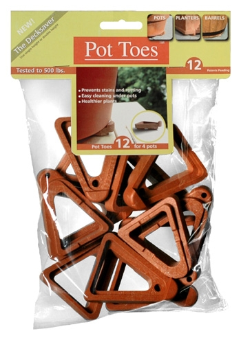 Pot Toes(R) The Decksaver Black (12 Pack)