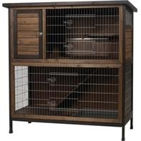 2-Story Outdoor Rabbit Hutch