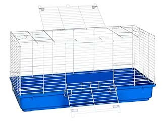Rabbit Cage Plastic 41 Inch (Blue)