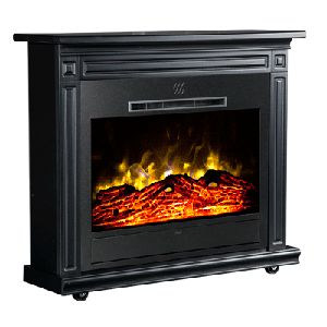 Heat Surge® Roll-N-Glow™ Black Fireplace