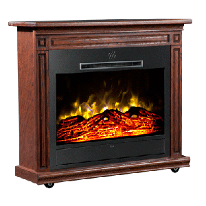 Heat Surge® Roll-N-Glow™ Dark Oak Fireplace