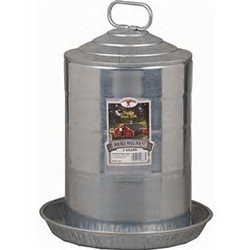 Double Wall Galvanized Poultry Fountain Waterer (3 Gallon)