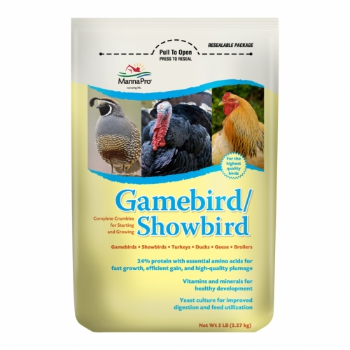 Manna Pro® Gamebird & Showbird Feed (5#)