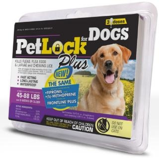 PetLock® Plus for Large Dogs 45-88# (3-Dose Pack)