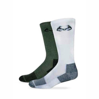 Realtree® Insect Shield™ Men's Crew Sock (L-Olive)