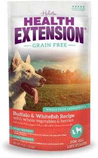 Health Extension® Grain Free Buffalo & Whitefish Recipe Dog Food (10#)