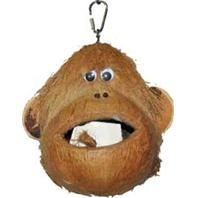 Happy Beaks® Coco Monkey Head Bird Toy