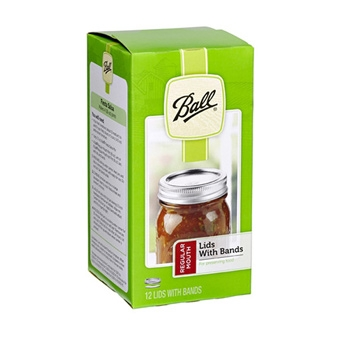 Ball® Regular Mouth Canning Jar Lids with Bands (12/Pack)