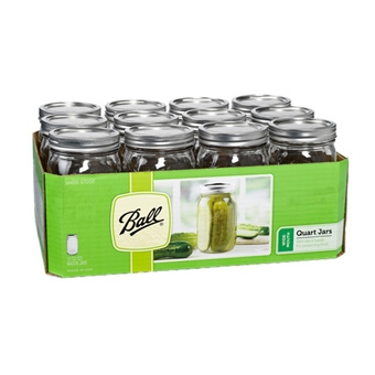 Ball® Wide Mouth Quart Size Mason Jars (12/Case)