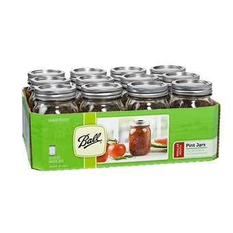 Ball® Regular Mouth Pint Size Mason Jar (12/Case)