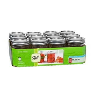 Ball® Regular Mouth 1/2 Pint (8oz) Size Mason Jar (12/Case)