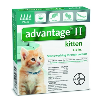 Advantage II® Flea Prevention & Treatment {Kittens up to 5#'s} (4-Pack)