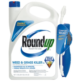 Roundup® Weed & Grass Killer with Comfort Wand (1.1 Gallon-RTU)